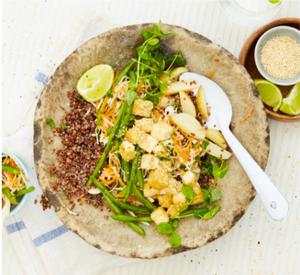 vegan, plant based gado gado bowl