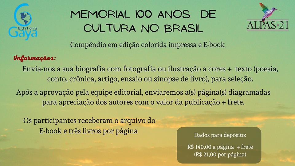 Informações sem  dados - Memorial 100 an