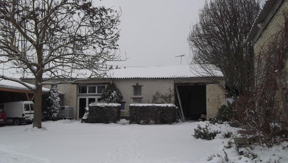 Le gîte Verveine sous la neige