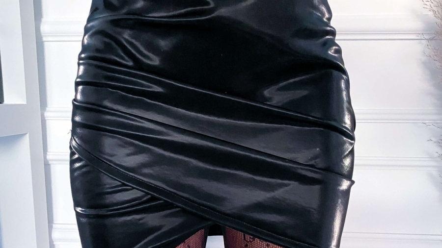 Leather High Waist Mini Skirt