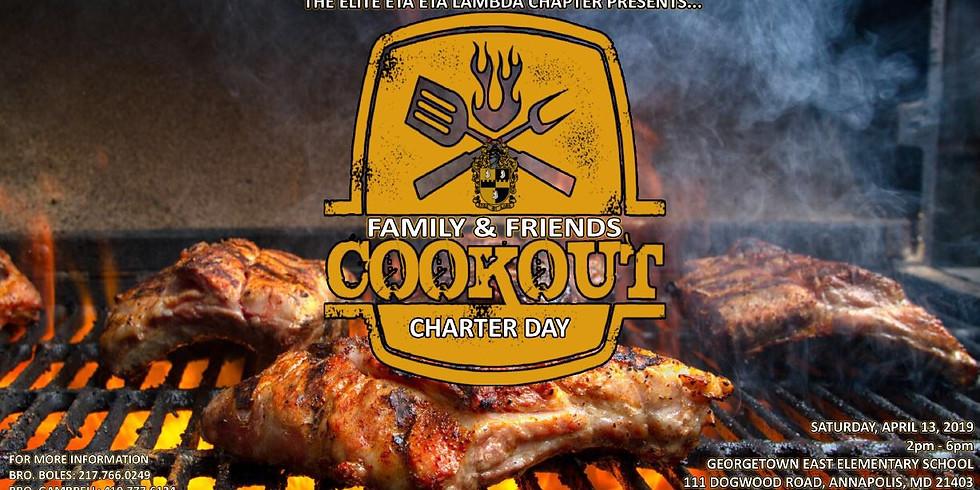 Family & Friends Cookout - Eta Eta Lambda Alpha Phi Alpha - Charter Week