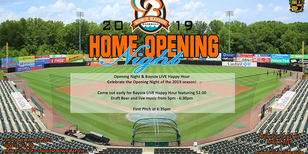 Bowie Baysox Opening Night