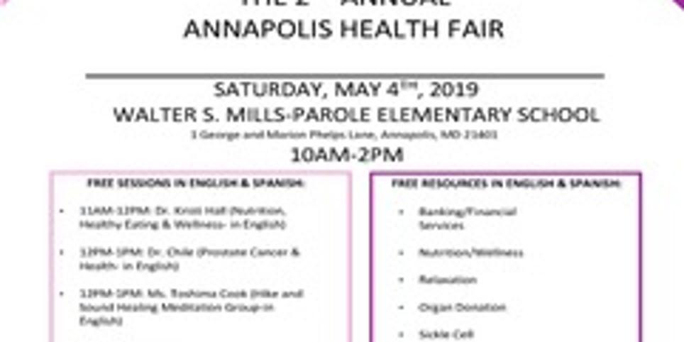 2nd Annual Annapolis Health Fair