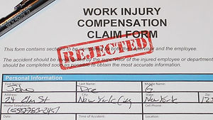 Rejected work injury form. private investigator nj