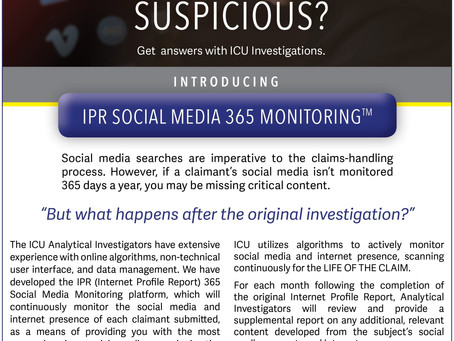 New Product Offering: ICU's IPR Social Media 365 Monitoring!