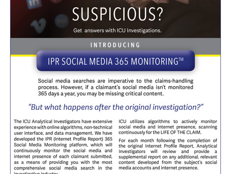 Product Feature: ICU's IPR Social Media 365 Monitoring