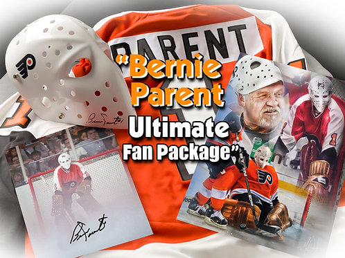 Autographed Ultimate Fan Package! Replica Mask & Replica Jersey Included