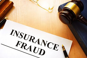 Paper with Insurance Fraud written in bold. Private investigator near me.