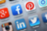 Cellphone background showing social media logos. Social media investigations.