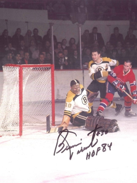 Bernie in Goal, Boston Bruins vs Montreal Canadiens 8x10