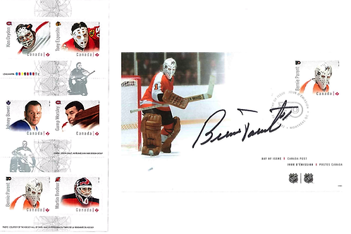Great Canadian Goalies Stamps and Autographed Day of Issue Envelope Package