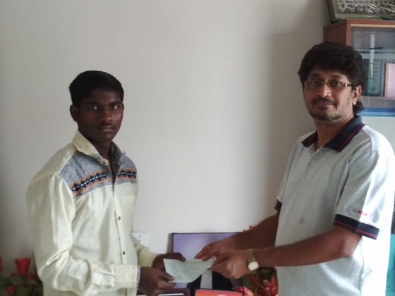 Sahabalve Sponsoring an Underprivileged tribal rural boy