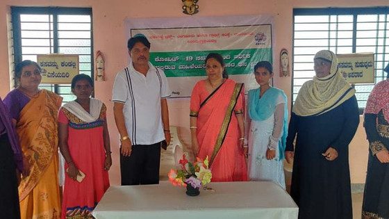 Sahabalve's support at rural Raichur exclusively for poor women during Covid 19 Crisis