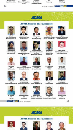 Glad to have our Managing Trustee  Dr. Raghavendra Prasad at ACMA awards 2017 assessors board . ACMA