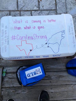 cooler written on carolina strong.jpg