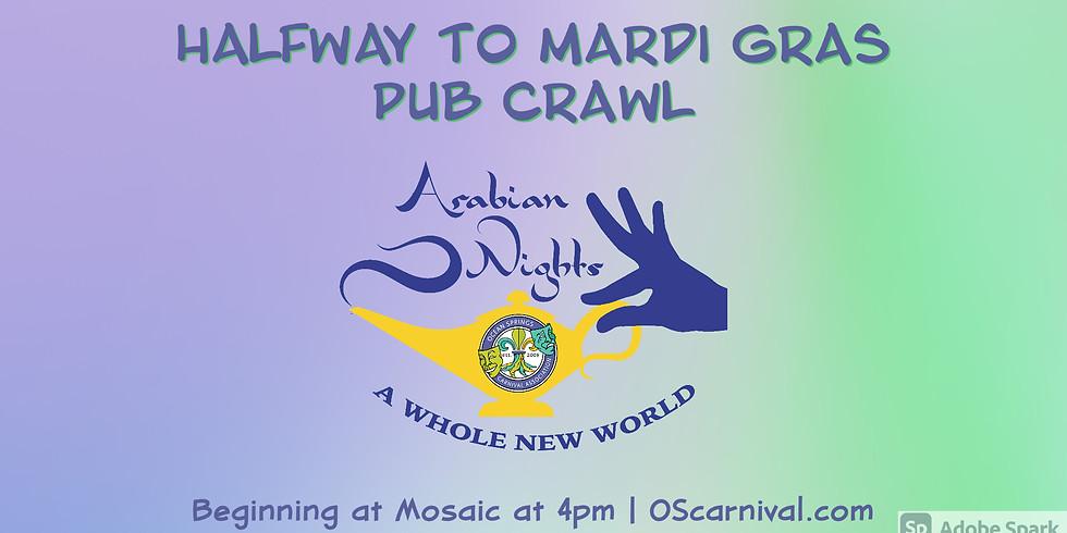 Halfway to Mardi Gras Pub Crawl