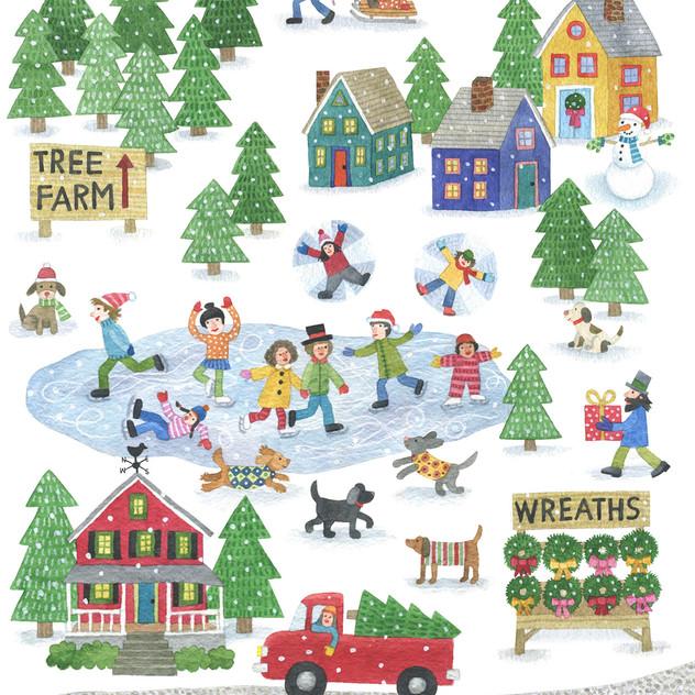 ChristmasVillage_StephanieJones_watercol