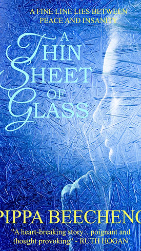 Psychologcal, historical fiction, A Thin Sheet of Glass, novel cover, Pippa Beecheno, author