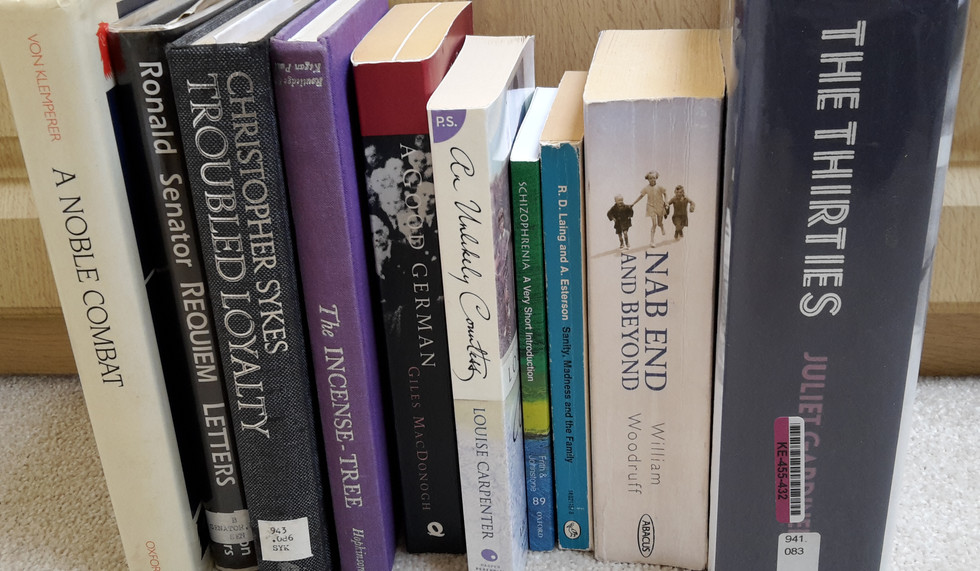 Research books for A THIN SHEET OF GLASS
