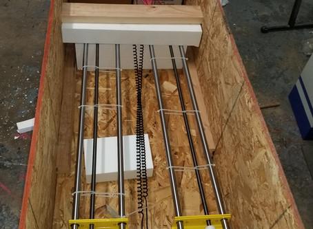 Packing a foam cutter machine for shipping