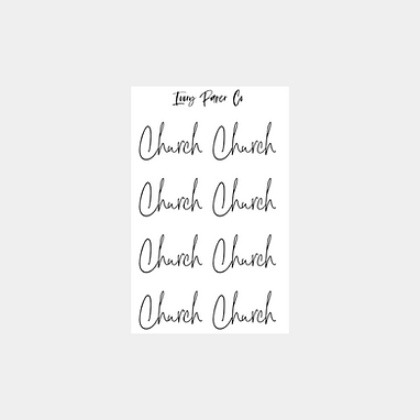 Church Script Foil Sticker Sheet