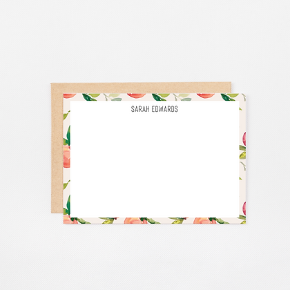 Natural Peach   Personalized Stationery Note Cards