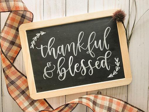 Brush Lettered Chalkboards | November 15th