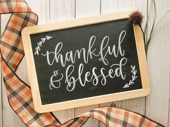 Brush Lettered Chalkboards | November 15th
