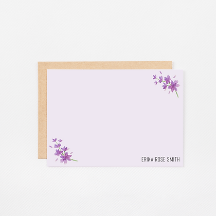 Lovely Lavender | Personalized Stationery Note Cards