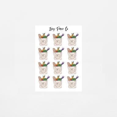 Grocery Icon Sticker Sheet