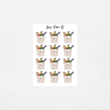 Grocery Icon Sticker Sheet