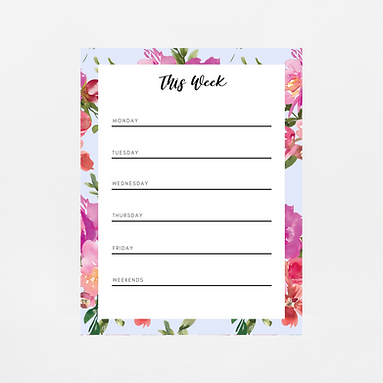Pale Blue Watercolor Weekly Notepad | Customize Me