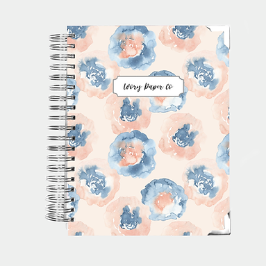 Abstract Floral Watercolor | 12 Month Daily Planner