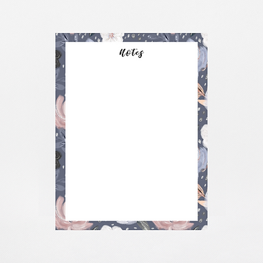 Navy Floral Notepad | Customize Me