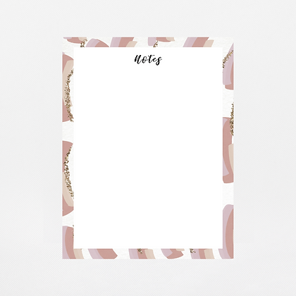 Mauve Brush Strokes Notepad | Customize Me