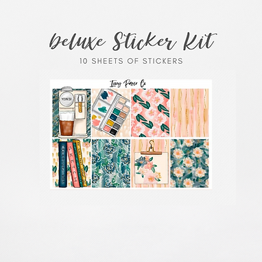 Watercolor Kit | Deluxe Kit (Glossy Planner Stickers)