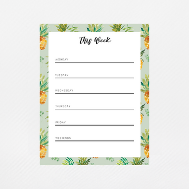 Pineapple Weekly Notepad | Customize Me