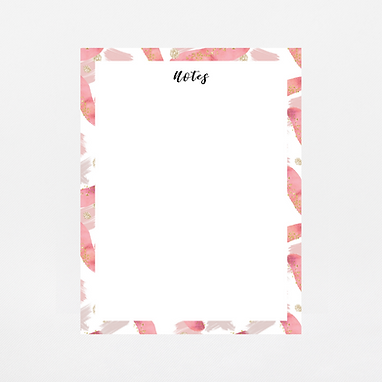 Pink Paint Strokes Notepad | Customize Me