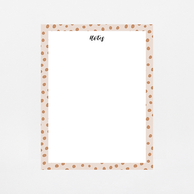 Spotted Tan Notepad