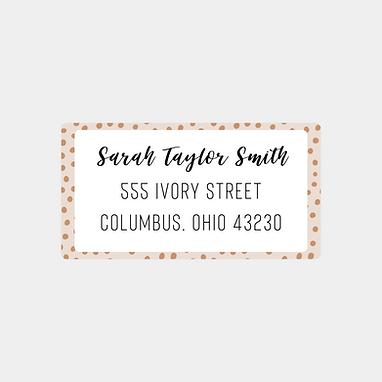 Spotted Tan Return Address Labels