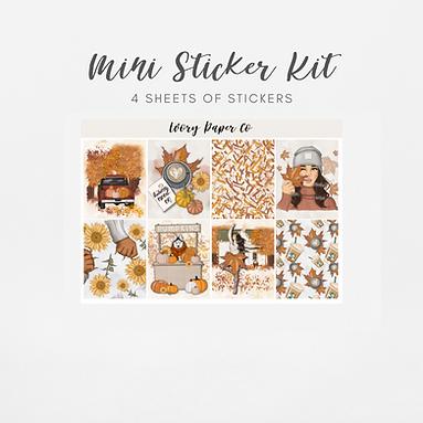 Hello Fall   Mini Kit (Glossy Planner Stickers)