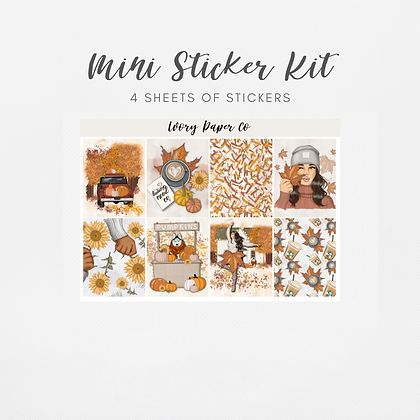 Hello Fall | Mini Kit (Glossy Planner Stickers)