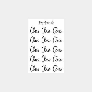 Class Script Foil Sticker Sheet
