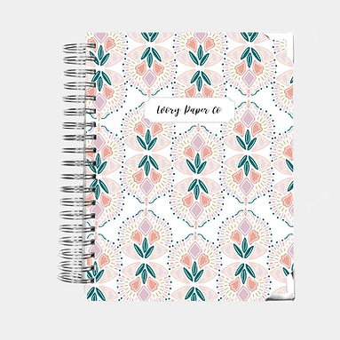 Budget Planner - 12 Months  - Colorful Geometric