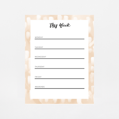 Pale Brush Strokes Weekly Notepad | Customize Me