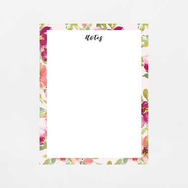 Blush Watercolor Notepad | Customize Me