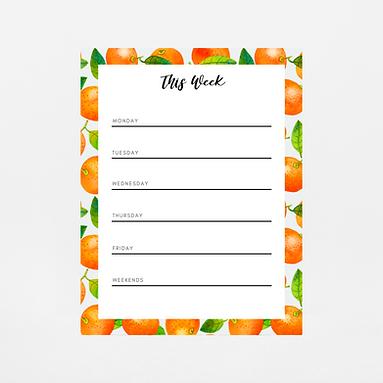 Mandarin Weekly Notepad   Customize Me