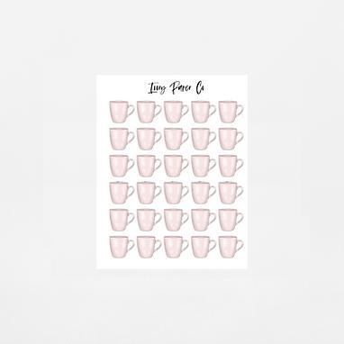 Mug Icons Sticker Sheet