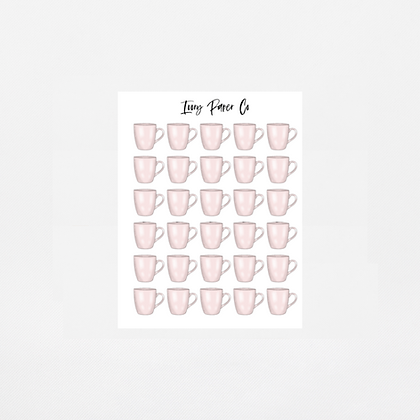 Mug Icons Sticker Sheet