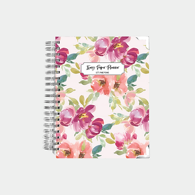 Blush Watercolor   Undated Ivory Paper Co Planner